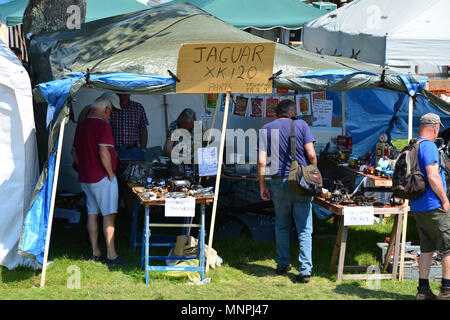 Beaulieu, England. 19th May 2018. Auto jumble and car show held at the National Motor Museum in the New Forest in Hampshire. JWO/ Alamy Live News - Stock Photo