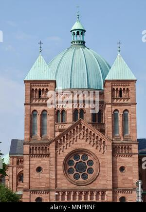 St. Peter the Younger Catholic Church, Strasbourg, France - Stock Photo