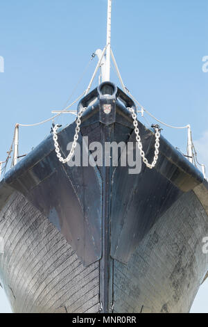 Wooden ship at US Army Monument Antwerp, Belgium - Stock Photo