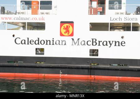 Caledonian MacBrayne calmac ferry Loch Siora - Stock Photo