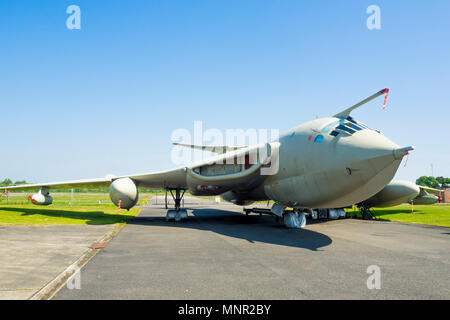 Handley Page Victor K2 tanker cold war nuclear bomber now refuelling tanker on display at the Yorkshire Air Museum Elvington York UK - Stock Photo