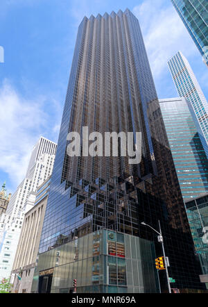 New York, USA - May 12, 2018 : The Trump Tower on Fifth Avenue, NYC - Stock Photo