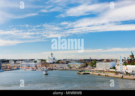 View over central Helsinki, Finland, Europe - Stock Photo