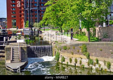 St Pancras Lock, Regent's Canal,  Kings Cross, London, England, UK. - Stock Photo