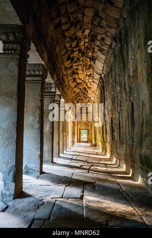 Angkor Wat temple in Siem Reap in Cambodia - Stock Photo