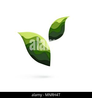 Ecosystem logo concept. Ecology and care about nature. Vector illustration - Stock Photo