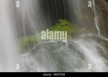 Waterfall in Autoire, Lot department, Occitanie, France - Stock Photo