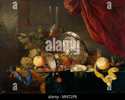 Español: Mesa English: Table    .   885 Mesa (Jan Davidsz. de Heem) - Stock Photo