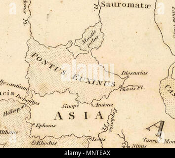 . Deutsch: Map of the World According to Strabo (1814). Bye, J., engraver. 1814.   James Playfair  (1738–1819)    Alternative names Playfair, Principal; Principal Playfair, St. Andrews  Description British academic  Date of birth/death 1738 1819  Authority control  : Q14500320 VIAF: 67993865 1010 Playfair, Principal. Map of the World According to Strabo. 1814 CA - Stock Photo