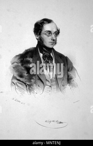 OLYMPUS DIGITAL CAMERA    . Adolf Müller senior. Lithographie of A. Decker, 1842/1843 . 1842/1843. A. Decker; Foto: Peter Geymayer 909 Mueller - Stock Photo