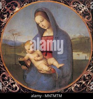 Madonna with the Book (Conestabile Madonna)   1504.   1038 Raffaello Sanzio - Madonna with the Book (Conestabile Madonna) - WGA18629 - Stock Photo