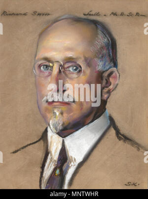 .  English: 'Richard Swann Lull - Director of Peabody Museum 1922-'. Courtesy of Yale University Art Gallery, Yale University, New Haven, Connecticut. . Unknown date.   1061 Richard Swann Lull by William Sergeant Kendall - Stock Photo