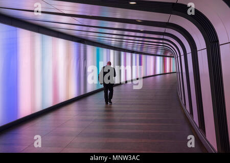 King's Cross Station Lightwall Tunnel, King's Cross Station, London, England, UK - Stock Photo