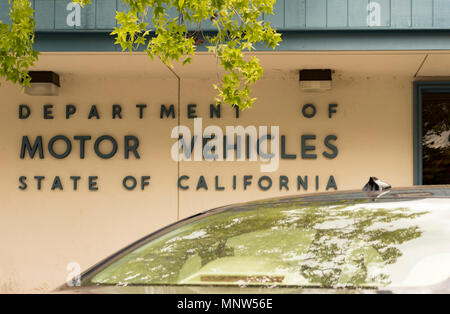 Los Gatos, California, USA - May 16, 2018: State of California Department of Motor Vehicles (DMV) sign in the town of Los Gatos, Northern California. - Stock Photo