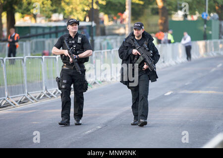 Police security at the Royal wedding of Prince Harry and Meghan Markle. - Stock Photo