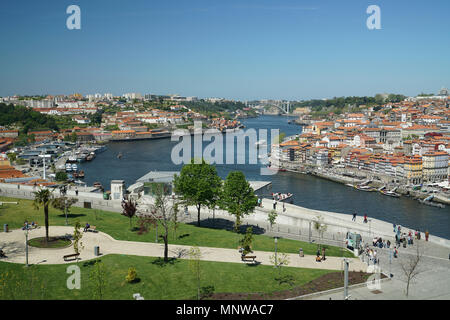 Porto & Duoro River Looking West -1 - Stock Photo