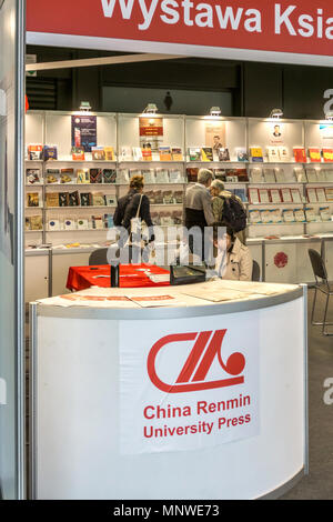 Warsaw, Poland. 19th May 2018. The four-day 9th International Warsaw Book Fair take place in the Polish capital city. The book fair in Warsaw is one of the oldest fairs in Europe. The Chinese Stand. Credit: dario photography/Alamy Live News - Stock Photo