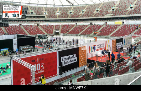 Warsaw, Poland. 19th May 2018. The four-day 9th International Warsaw Book Fair take place in the Polish capital city. The book fair in Warsaw is one of the oldest fairs in Europe. General view of the fair hall. Credit: dario photography/Alamy Live News - Stock Photo