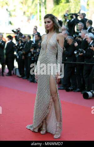 Cannes, France. 19th May 2018.  Valery Kaufman attends the screening of 'The Man Who Killed Don Quixote' and the Closing Ceremony during the 71st annual Cannes Film Festival at Palais des Festivals in Cannes, France on May 19, 2018. Credit: Luo Huanhuan/Xinhua/Alamy Live News - Stock Photo