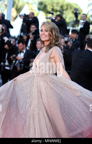 Cannes, France. 19th May 2018.  Victoria Bonya attends the screening of 'The Man Who Killed Don Quixote' and the Closing Ceremony during the 71st annual Cannes Film Festival at Palais des Festivals in Cannes, France on May 19, 2018. Credit: Luo Huanhuan/Xinhua/Alamy Live News - Stock Photo