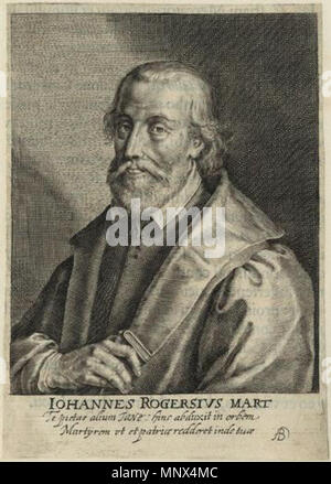 possibly by Willem van de Passe,print,1620    . English: Engraving of John Rogers (c. 1500 - 1555), possibly by Willem van de Passe . 1620.   Willem van de Passe   Alternative names Willem de Passe  Description Dutch artist, engraver and drawer  Date of birth/death between 1597 and 1598 1637 / between October 1636 and December 1637  Location of birth/death Cologne London  Work location Probably France, England  Authority control  : Q14551646 VIAF:95737461 ISNI:0000 0000 8402 4763 ULAN:500009246 LCCN:n80114002 GND:13871410X WorldCat 734 John Rogers - Willem van de Passe - Stock Photo