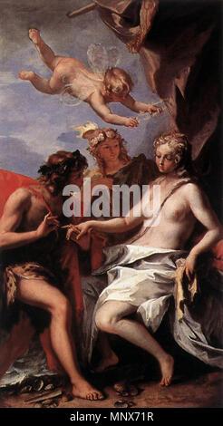 Bacchus and Ariadne   circa 1713.   1108 Sebastiano Ricci - Bacchus and Ariadne - WGA19434 - Stock Photo