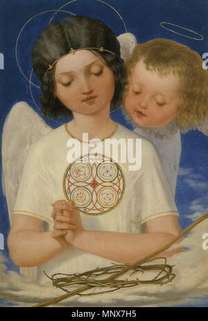.  English: Painting by Ford Madox Brown . 6 February 2012.   1111 Seraph's Watch - Stock Photo