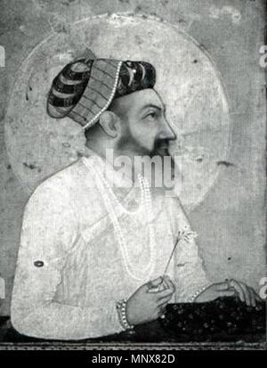 . Deutsch: der Großmogul Schah Jahan (* 1592 /† 1666), Darstellung von ca. 1650 English: portrait of Mughal emperor Shah Jahan . circa 1650. Hashim 1113 Shah jahan moguln - Stock Photo