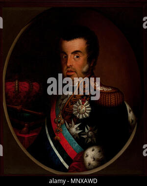 Portrait of Dom João VI (1767-1826)   circa 1820.   1123 Simplicio Rodrigues de Sa - Portrait of Dom Joao VI (ca. 1820) - Google Art Project - Stock Photo