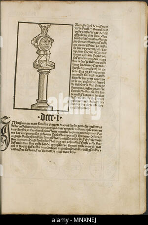 . Illustration from the incunabulum: Cronecken der Sassen (The Chronicles of Saxony) printed by Peter Schöffer in Mainz. 1492. Conrad Bote (Konrad Botho) 1173 The Fool p00051 - Stock Photo