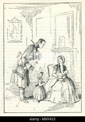 . Illustration to chapter 35 of Vanity Fair by William Makepeace Thackeray . circa 1861.   William Makepeace Thackeray (1811–1863)   Alternative names Thackeray; William Thackeray  Description English novelist and illustrator  Date of birth/death 18 July 1811 24 December 1863  Location of birth/death Calcutta London  Authority control  : Q167768 VIAF:95208604 ISNI:0000 0001 2144 1903 ULAN:500026742 LCCN:n78095677 NLA:35544821 WorldCat 1225 Vanity Fair, chapter 35 by William Makepeace Thackeray - Stock Photo