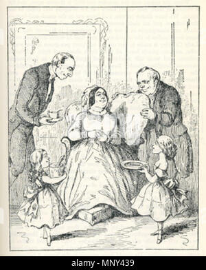 . Illustration to chapter 11 of Vanity Fair by William Makepeace Thackeray . circa 1861.   William Makepeace Thackeray (1811–1863)   Alternative names Thackeray; William Thackeray  Description English novelist and illustrator  Date of birth/death 18 July 1811 24 December 1863  Location of birth/death Calcutta London  Authority control  : Q167768 VIAF:95208604 ISNI:0000 0001 2144 1903 ULAN:500026742 LCCN:n78095677 NLA:35544821 WorldCat 1225 Vanity Fair, chapter 11 by William Makepeace Thackeray - Stock Photo
