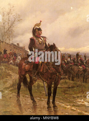 923 Neuville Alphonse Marie De «French Cuirassiers» - Stock Photo