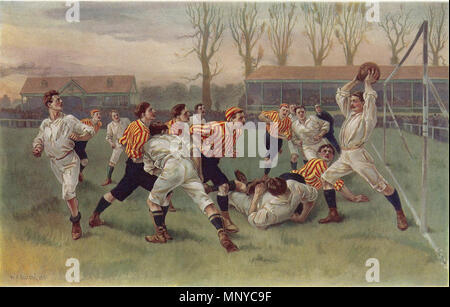 . Русский: William Heysman Overend (1851-1898). Football, 1890 (circa 1900) . 20 July 2017. William Heysman Overend (1851-1898) 1265 William Heysman Overend (1851-1898) - Stock Photo