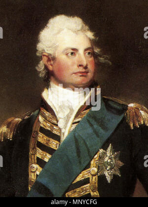 King William IV . Admiral The Duke of Clarence (later King William IV) (1765–1837) in full dress uniform . circa 1800. Sir Martin Archer Shee (1769–1850) 1266 William IV - Stock Photo