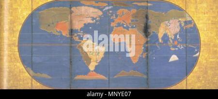 A world map (1600 Stock Photo: 213300191 - Alamy