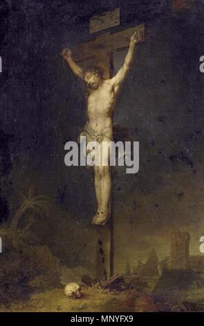 Christ on the Cross . Christus am Kreuz. Bezeichnet unterhalb des Kreuzes: ja: Zick f. 1793. Öl auf Leinwand. Doubliert. 92 x 62,5 cm. 1793.   1283 Zick (attr) Kreuzigung - Stock Photo
