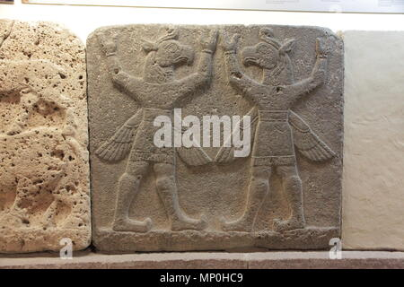 Orthostats of Heralds Wall in Museum of Anatolian Civilizations. - Stock Photo