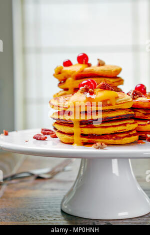 Butternut Squash Pancakes - Stock Photo