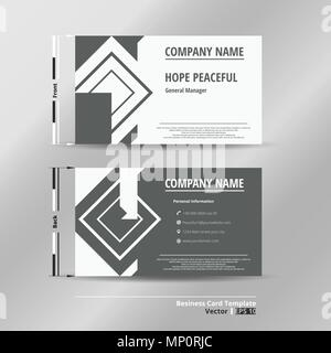 Modern name card template of business, illustration vector eps10