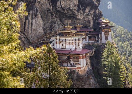 View of the Tigers Nest Bhutan