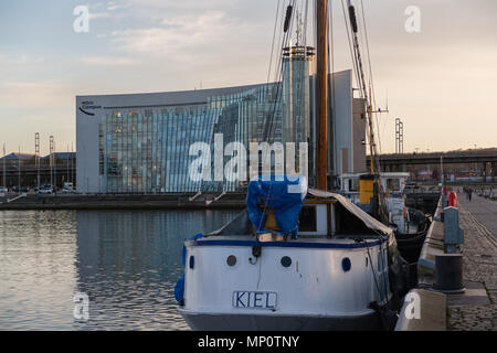 'Hörn Campus', an office building, at the very end of the Kiel Fjord, Kieler Foerde,  Kiel, Schleswig-Holstein, Germany - Stock Photo
