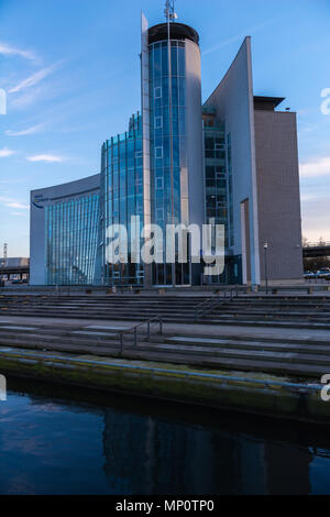 Hörn Campus, office-block at the end of the Kiel Fjord, Kiel, Schleswig-Holstein, Germany - Stock Photo