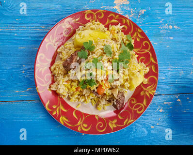 Surbiyaan - or zurbiyan is a type of Biryani that is popular in Yemen, other parts of the Arabian Peninsula - Stock Photo