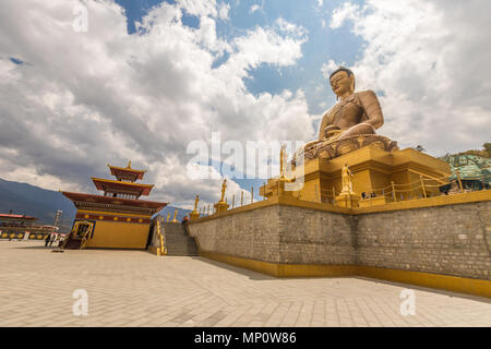 Giant Buddha in Thimphu Bhutan - Stock Photo