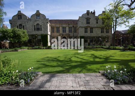 The Treasurer's House & Gardens, York, England, UK - Stock Photo
