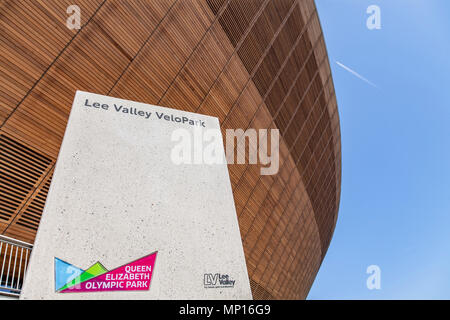 Lee Vally Velopark at the Queen Elizabeth Olympic park in London - Stock Photo