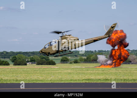 Cobra AH-1 Helicopter at the Central Texas Airshow - Stock Photo