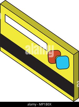 bank credit card payment isometric design - Stock Photo