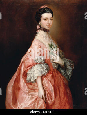 Mary Little, later Lady Carr - Thomas Gainsborough, 1763 - Stock Photo